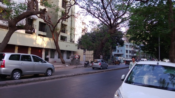 Road outside my colony and near my collge.